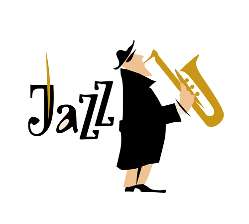 500x449 Musicians With Jazz Music Vector Material 07 Free Download