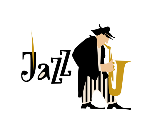 500x449 Musicians With Jazz Music Vector Material 09 Free Download