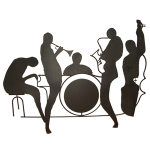 300x300 Silhouette Jazz Band Wall Sculpture Id Free Images