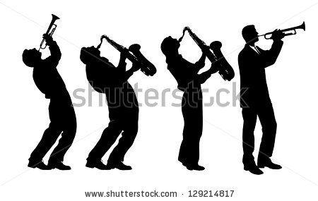 450x285 Silhouette Of Jazz Musician Stock Vector 129214817 Shutterstock