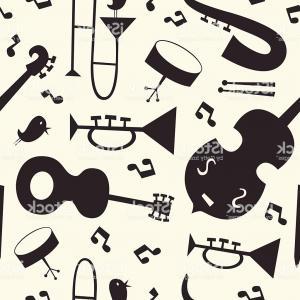 300x300 Stock Illustration Jazz Musical Instruments Vector Set
