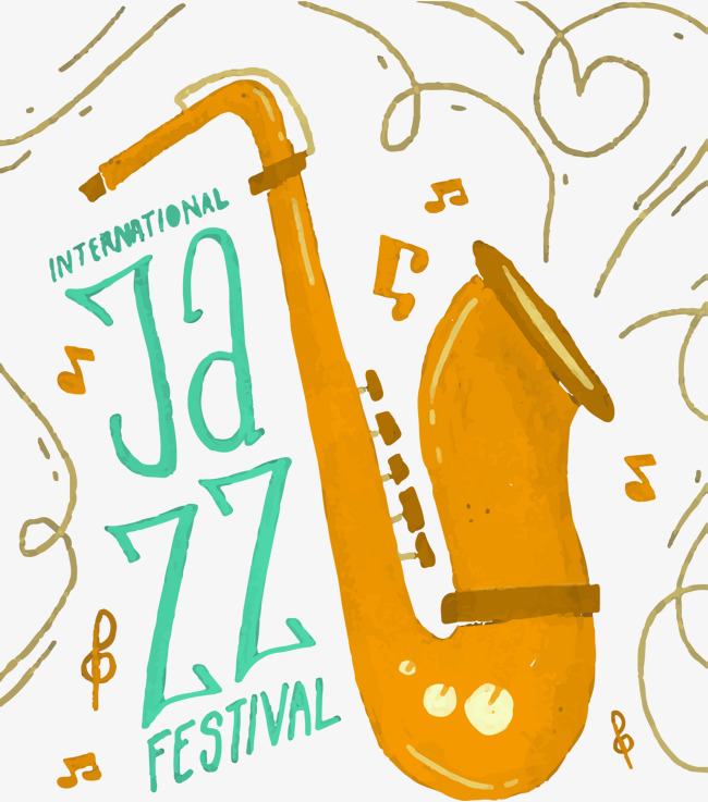 650x737 Vector Hand Painted Jazz, Vector, Hand Painted, Jazz Png And