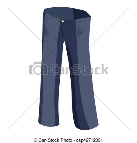 450x470 Jeans Icon, Cartoon Style. Jeans Icon. Cartoon Illustration Of