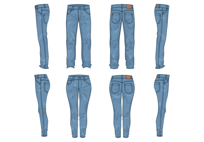700x490 Blue Jeans Vector