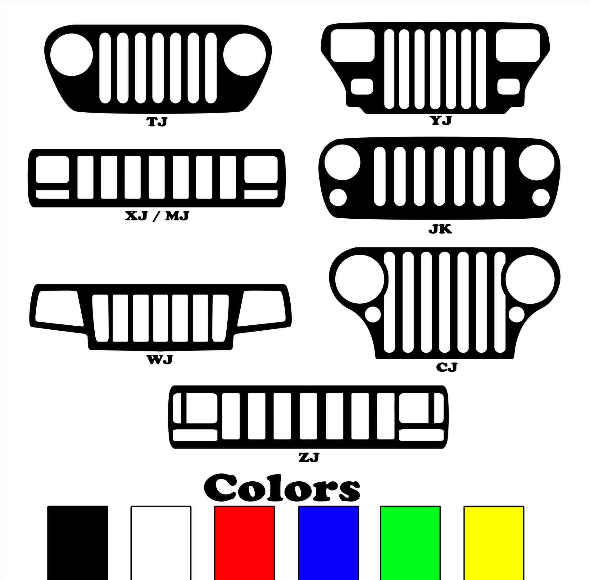 Jeep Grill Vector At Getdrawings