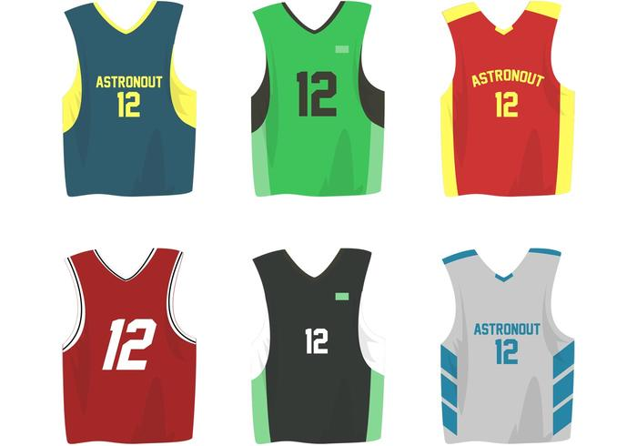 700x490 Basketball Sports Jersey Vectors