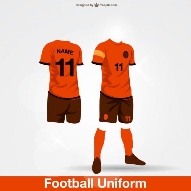 626x626 Football Uniform Vector Free Download