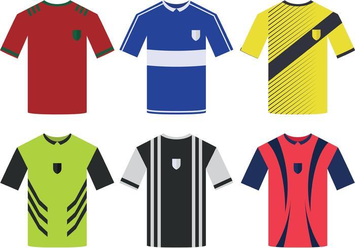 700x490 Soccer Sports Jersey Vectors
