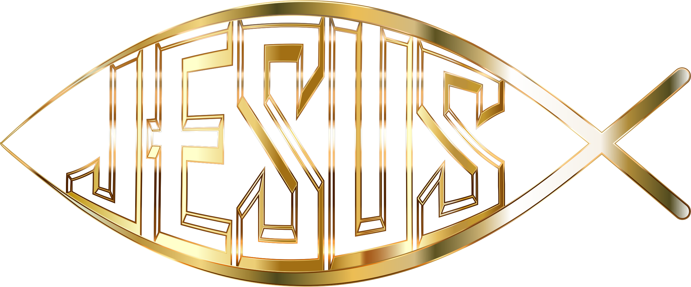 Jesus Fish Logo Vector