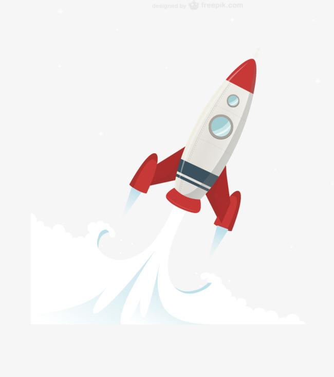 650x733 Vector Simple Cartoon Rocket Jet, Cartoon Vector, Rocket Vector