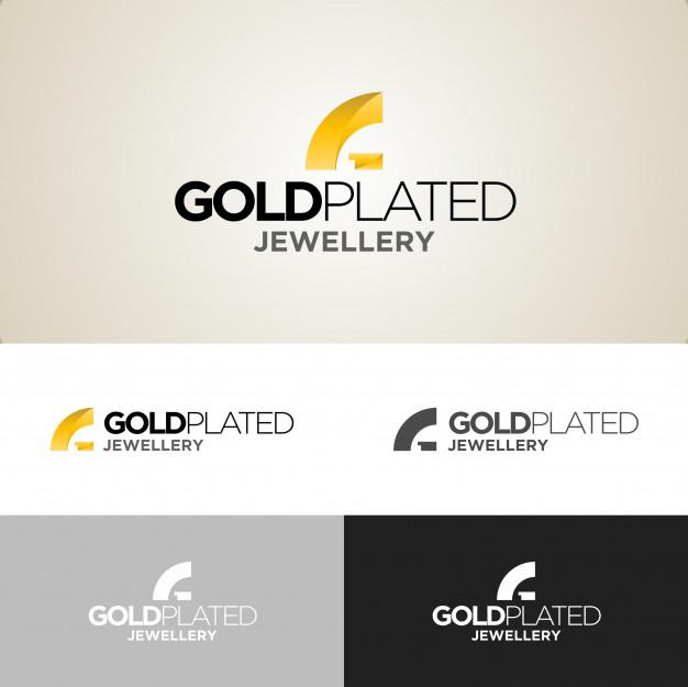 626x625 Gold Plated Jewellery Logo Design Template Vector Premium Download