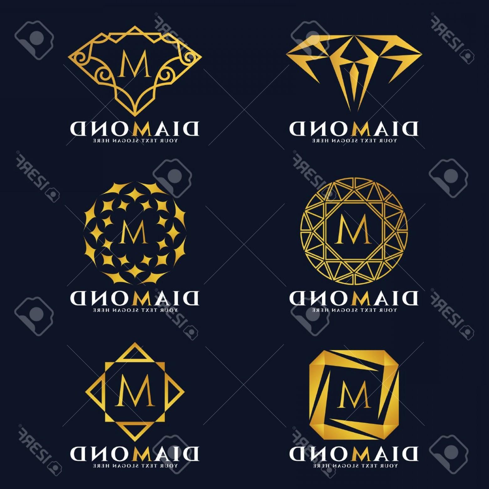 1560x1560 Photostock Vector Gold Diamond And Jewellery Logo Vector Set