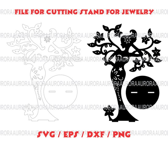 642x554 File For Cutting Stand For Jewelry Template Stand For Jewelry Etsy