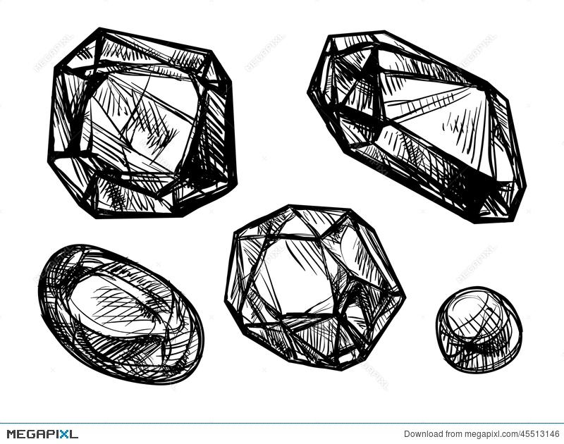 800x630 Jewelry, Vector Sketch Illustration 45513146