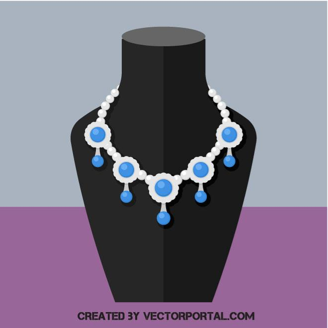 660x660 Necklace Vector Image