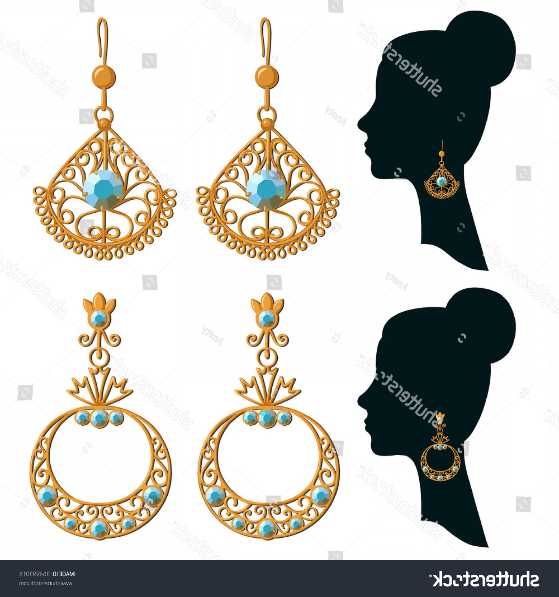 1800x1920 Vector Women Silhouettes With Jewelry Lazttweet