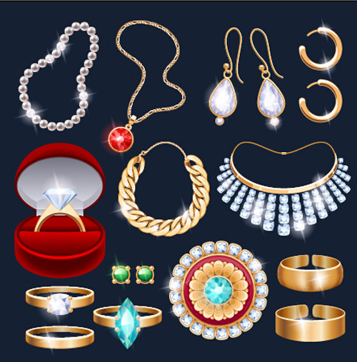 500x507 Different Jewelry Design Vector Free Download