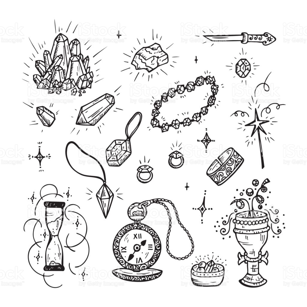 1024x1024 Drawn Jewelry Vector