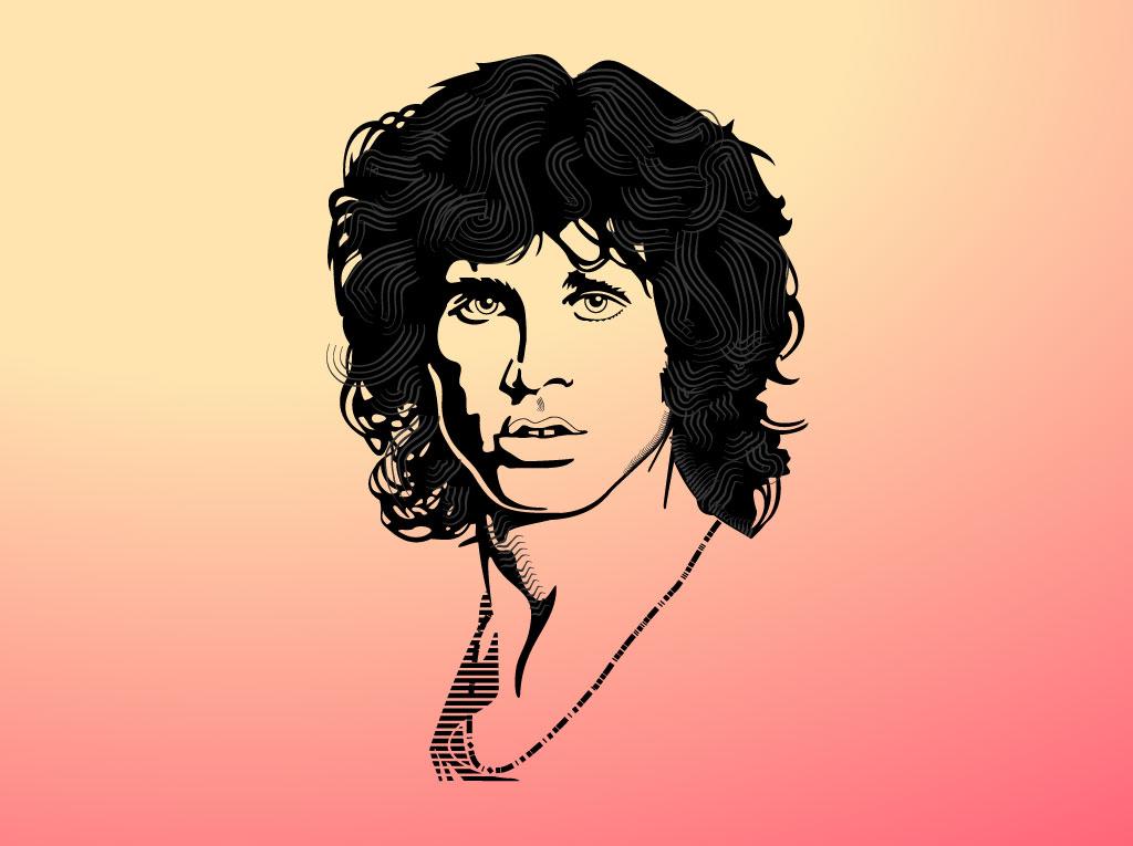 1024x765 Jim Morrison Tribute Graphics
