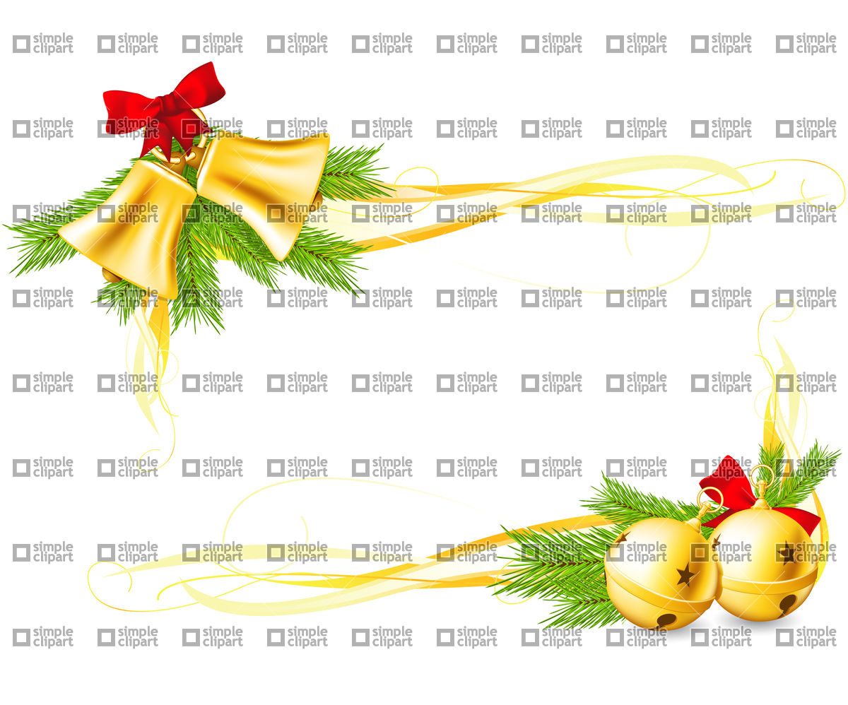 1200x998 Jingle Bells And Christmas Decorative Corners Made With Gradient