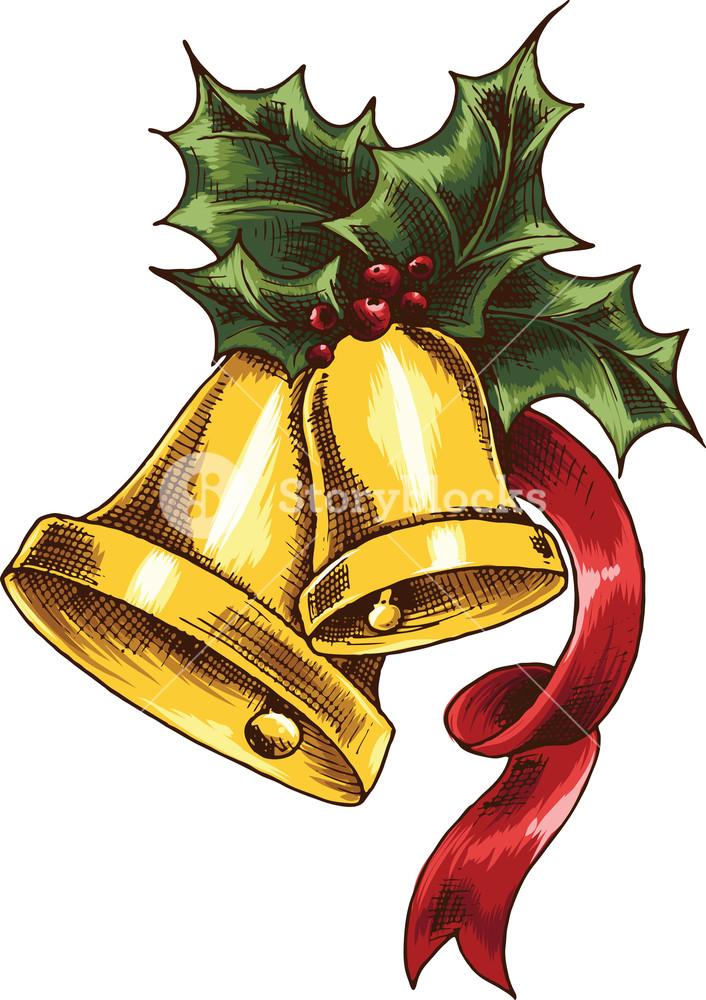706x1000 Vector Jingle Bells Royalty Free Stock Image