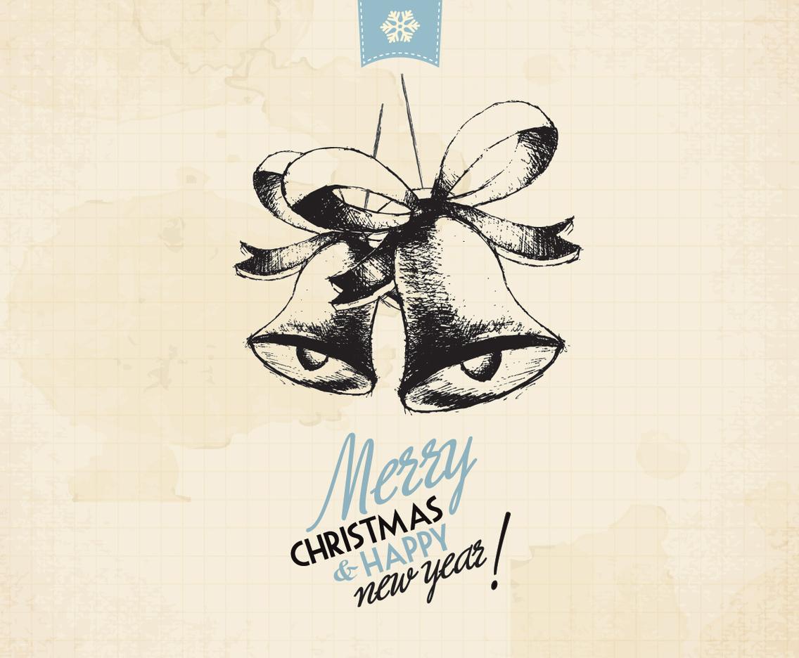 1136x936 Vintage Holiday Jingle Bells Vector Vector Art Amp Graphics