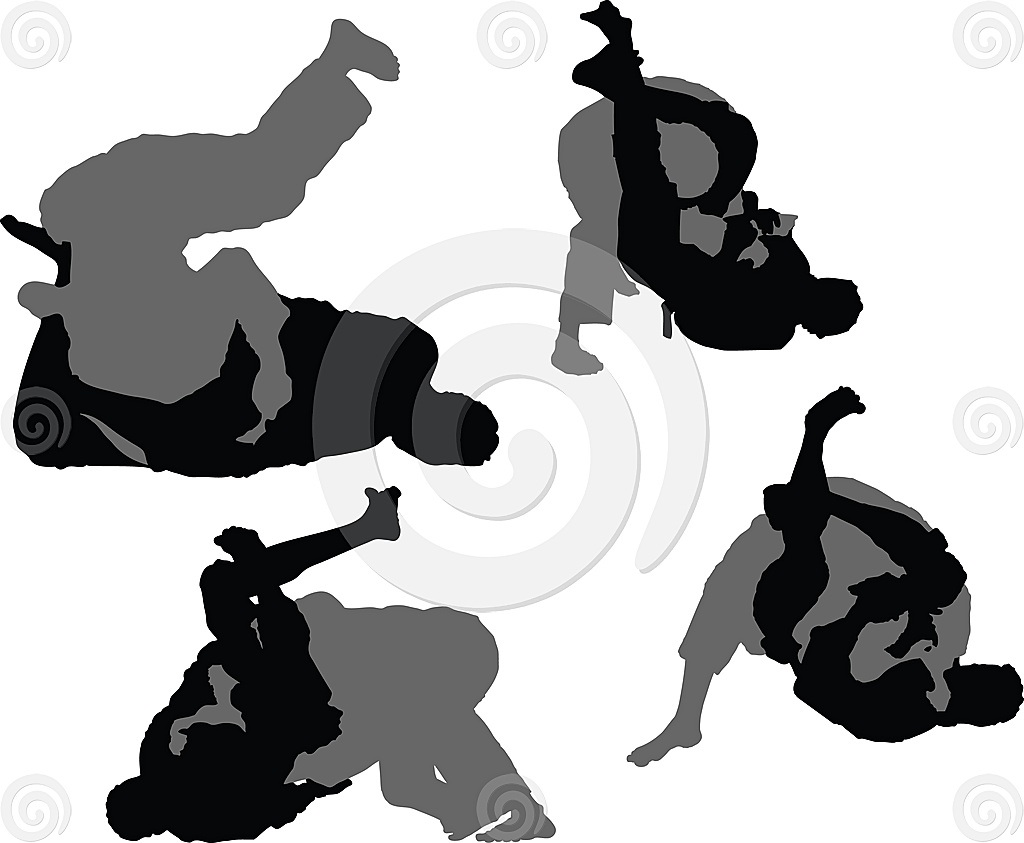 1024x843 Stock Illustration Brazilian Jiu Jitsu Triangle Choke The Art