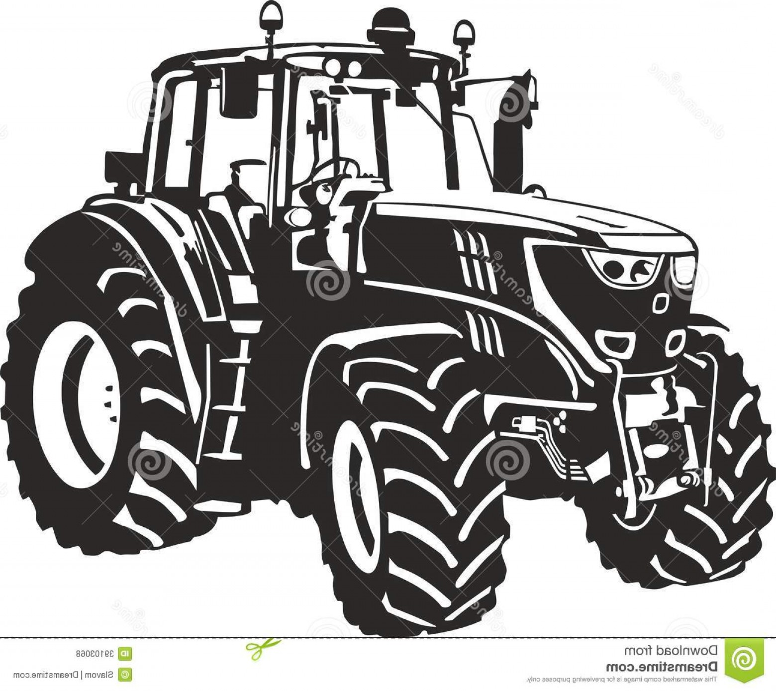 John Deere Tractor Vector At Getdrawings Free Download