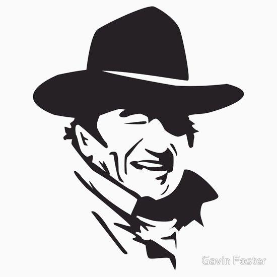 550x550 John Wayne Unisex T Shirt, A T Shirt Of Vector And John Wayne