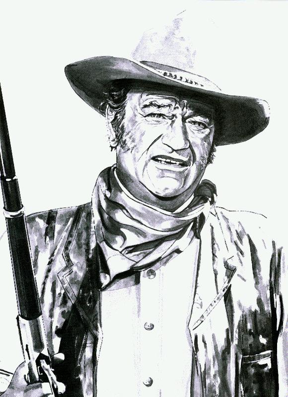 580x800 John Wayne 11x14 Print