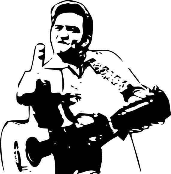 Johnny Cash Vector