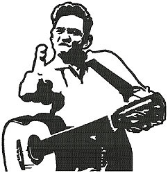242x250 Johnny Cash Embroidery Designs, Machine Embroidery Designs