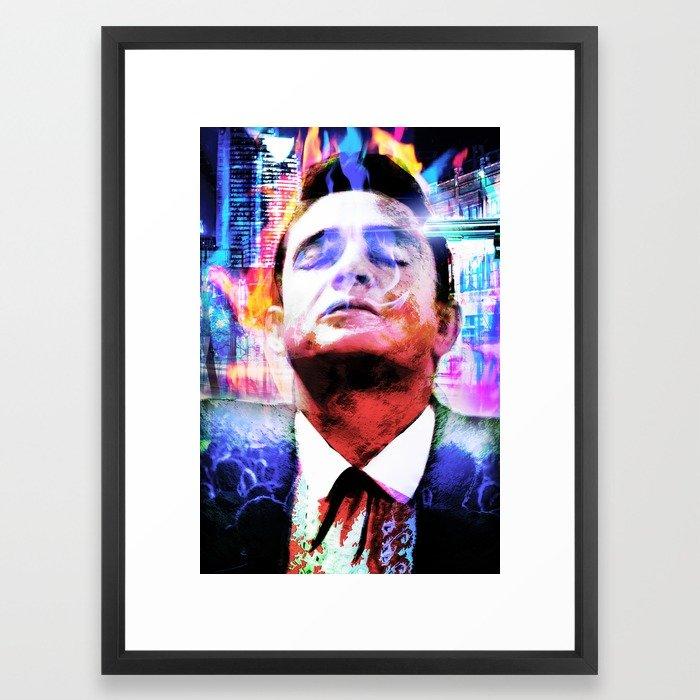 700x700 Johnny Cash Hurt Framed Art Print By Ericsellers Society6