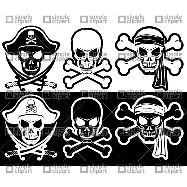 600x600 Jolly Roger, Pirate Attributes, Skull And Crossbones Silhouette