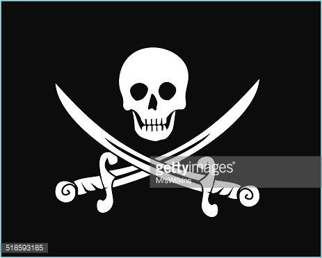 463x371 Jolly Roger Pirate Flag Vector Premium Clipart