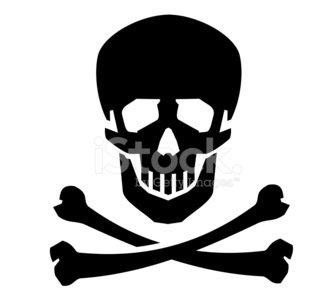 336x299 Jolly Roger Vector Logo Design Human Skull Or Dead Stock Vectors