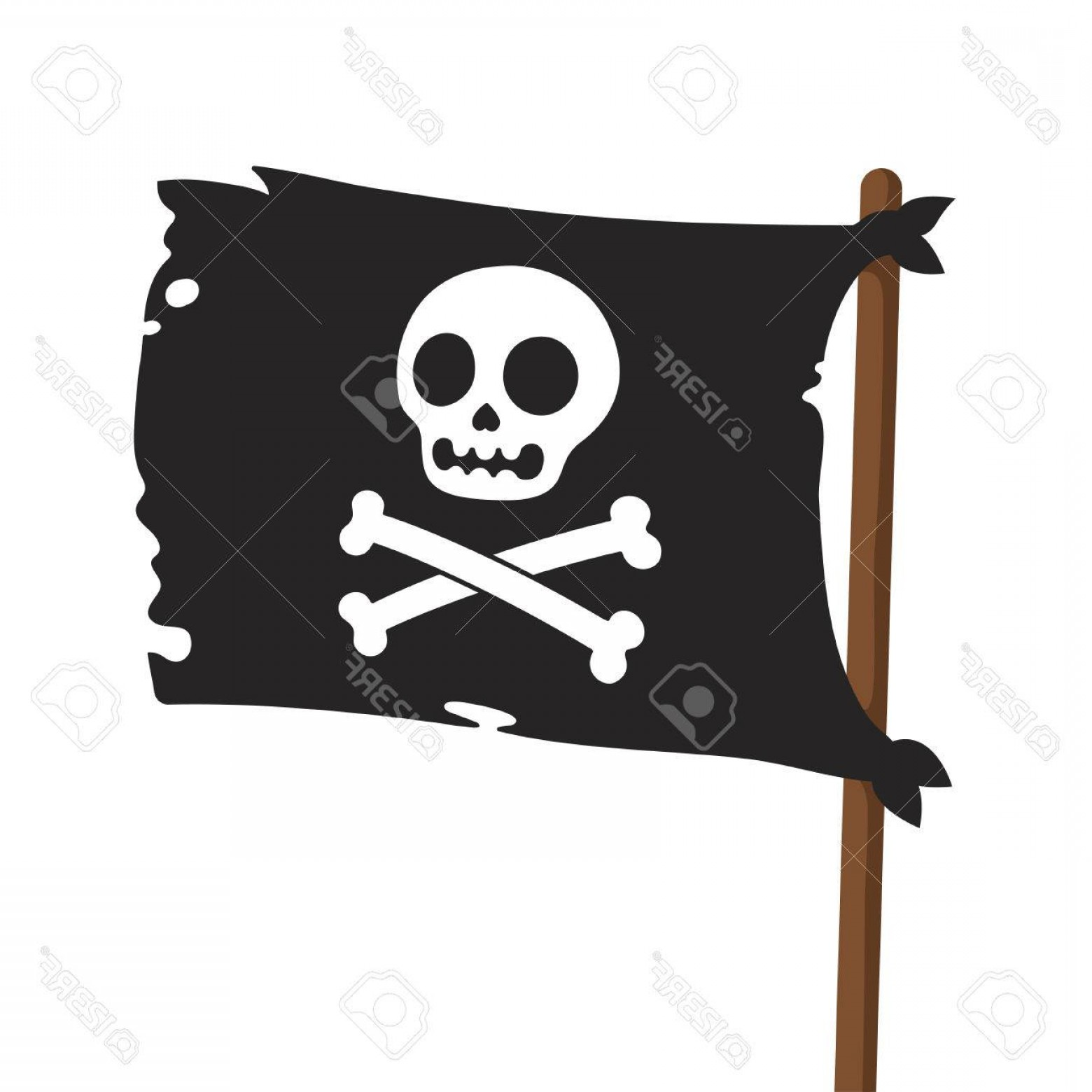 1560x1560 Photostock Vector Black Pirate Flag Illustration Jolly Roger With