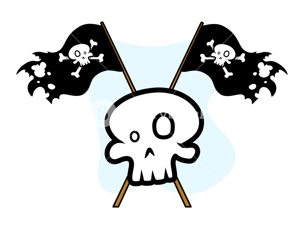 1000x754 Crossed Jolly Roger Flag With Skull
