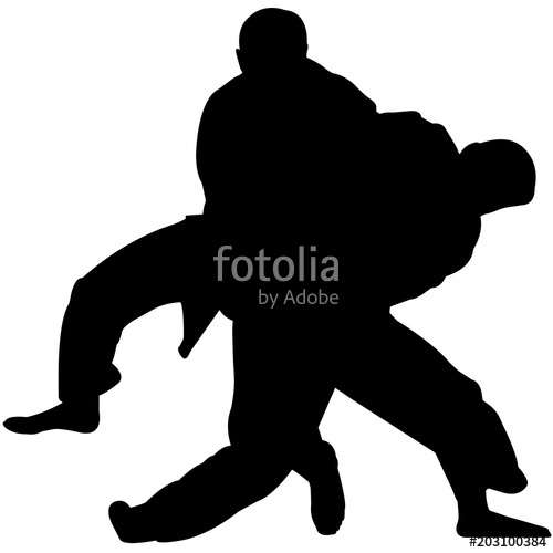 500x500 Judo Silhouette, Judo Clipart, Gender Sports Vector, Judosvg, Png