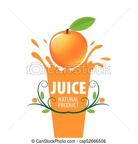 450x470 Logo Of Fresh Juice. Vector Icon Fresh Juice From Natural Products.
