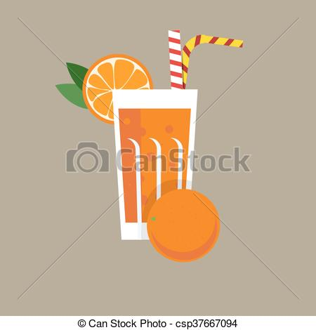 450x470 Fresh Orange Juice. Orange Juice Vector Illustration. Orange Fresh
