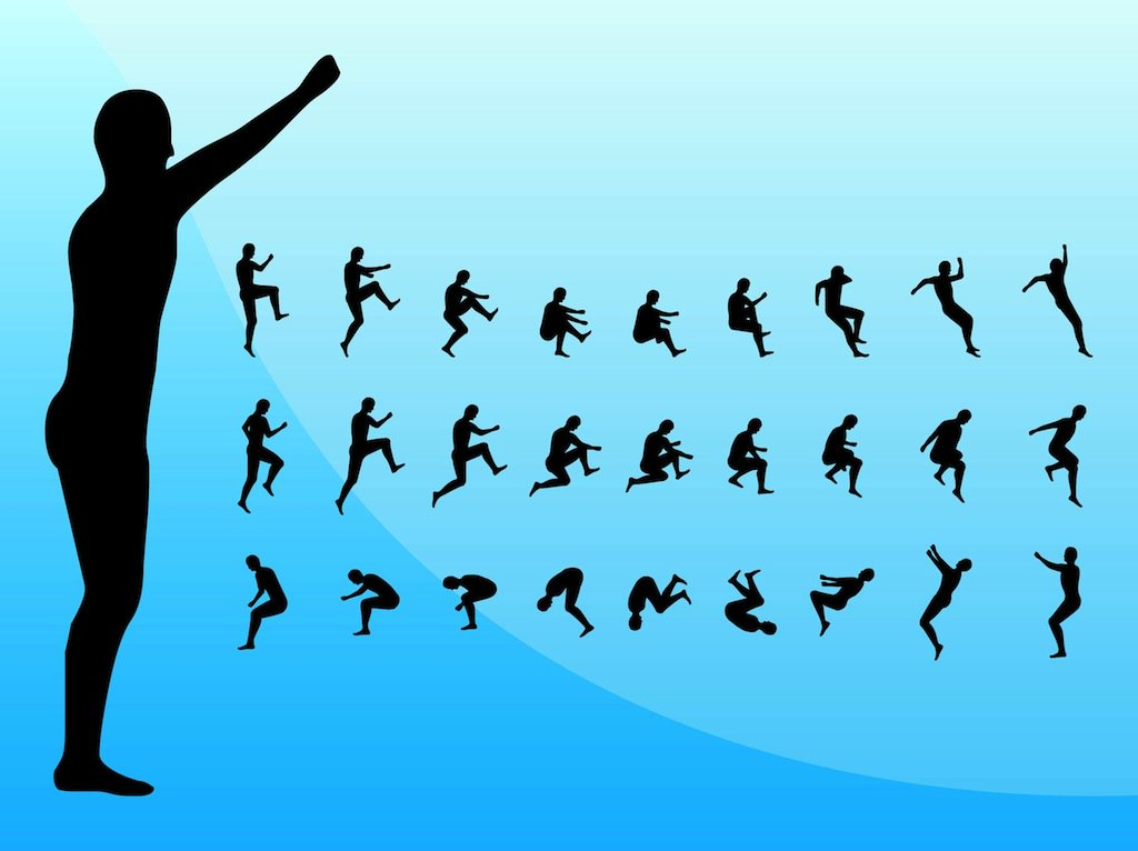 1024x766 Jumping Silhouettes Vector Art Amp Graphics