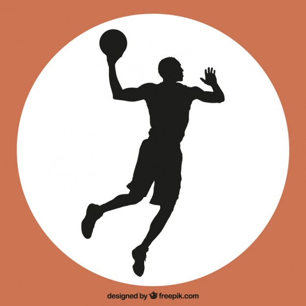 626x626 Basketball Player Jump Vector Vector Free Download