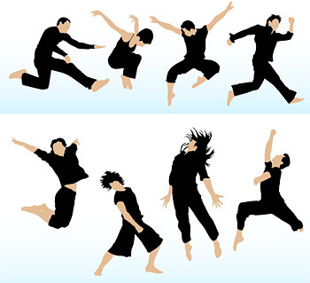 350x319 People Jumping Vector Free Vector Download (6,737 Free Vector) For