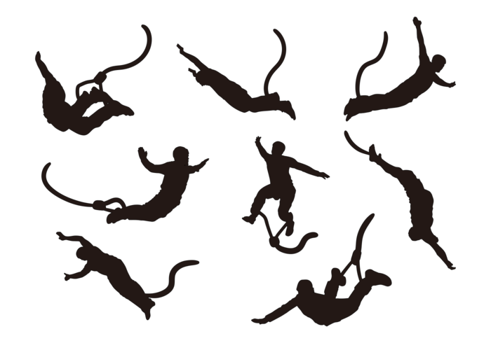 700x490 Bungee Jumping Silhouettes Vector