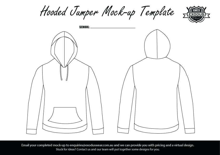 848x601 Jumper Zip Hoodie Template Up Vector Download Design Templates