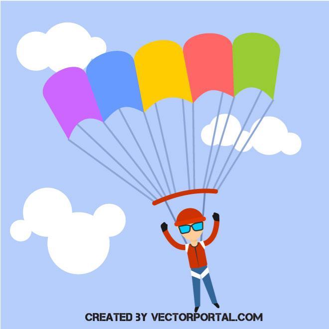 660x660 Parachute Jumper Vector Clip Art