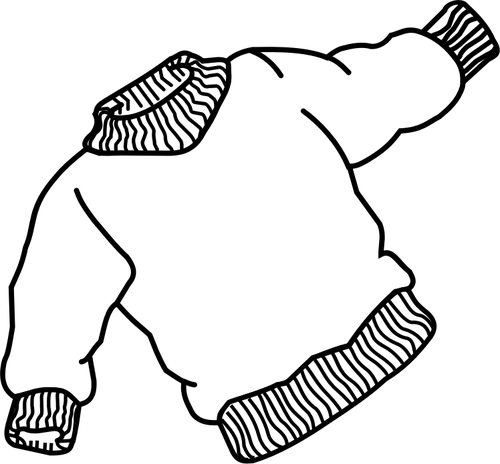 500x464 Vector Drawing Of Thick Jumper With Elastic Bands