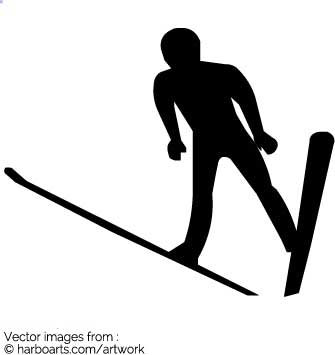 335x355 Download Ski Jumper Silhouette