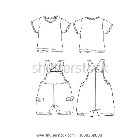450x448 Free Vector T Shirt Template Baby Download